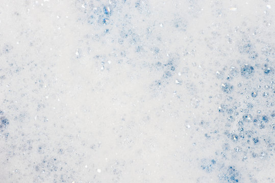 soap foam with bubbles macro background