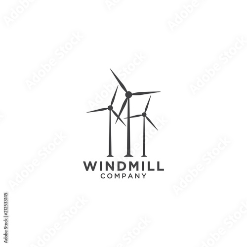 windmill logo design template stock image and royalty free vector