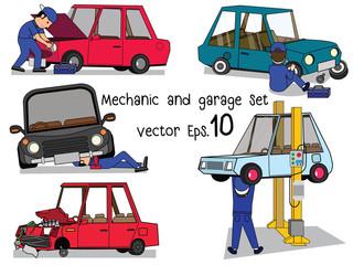 working and repair car set