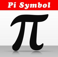 pi number symbol vector design