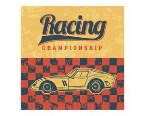 racing championship car classic vintage retro image
