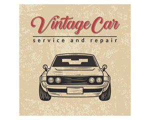 vintage car service and repair classic retro old school