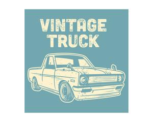 blue classic vintage truck retro old school image