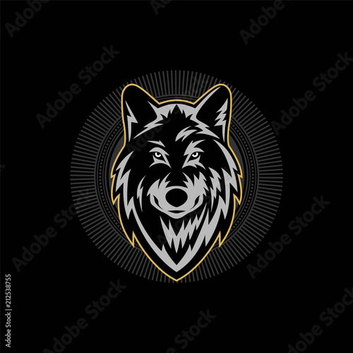wolf head logo template stock image and royalty free vector files