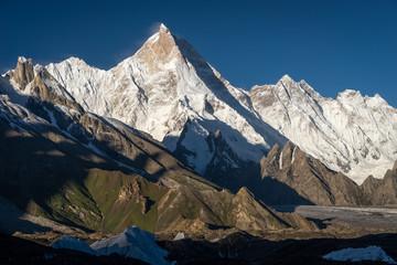 Masherbrum mountain peak or K1 inb Karakoram mountain range, Pakistan