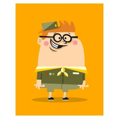 cute fat chubby scout boy kids children cartoon character