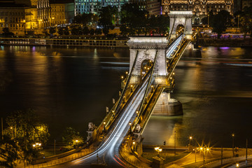 Traffic at the Chain Bridge, Budapest