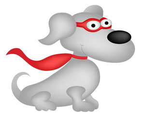 Superhero dog cartoon character