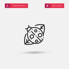 Outline Ladybird Icon isolated on grey background. Modern simple flat symbol for web site design, logo, app, UI. Editable stroke. Vector illustration. Eps10