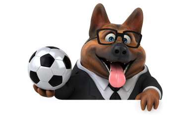 Fun german shepherd dog - 3D Illustration