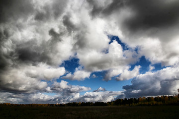 landscape and dramatic sky