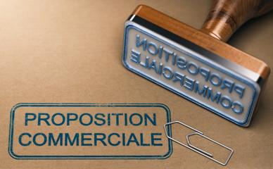 Proposition commerciale.