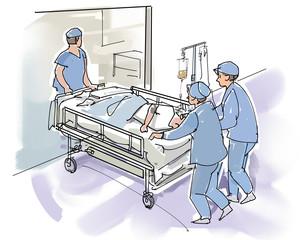 病院内搬送