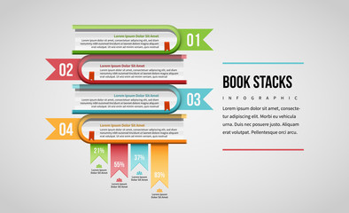 Book Stacks Infographic