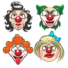 Clown Face Set
