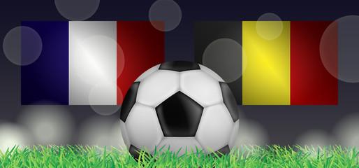 Fußball 2018 - Halbfinale (Frankreich vs Belgien)
