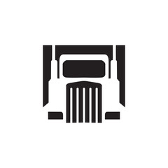 Truck Vector Icon. Transportation Illustration Template