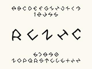 Runic font. Vector alphabet