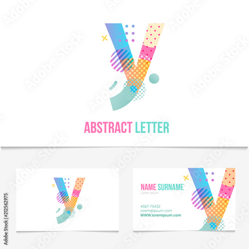 Creative abstract letter y design vector template on the business creative abstract letter y design vector template on the business card template abstract colorful alphabet maxwellsz
