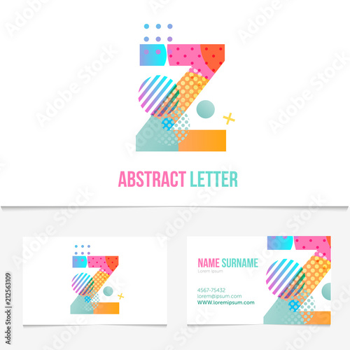 Creative abstract Letter z design vector template on The