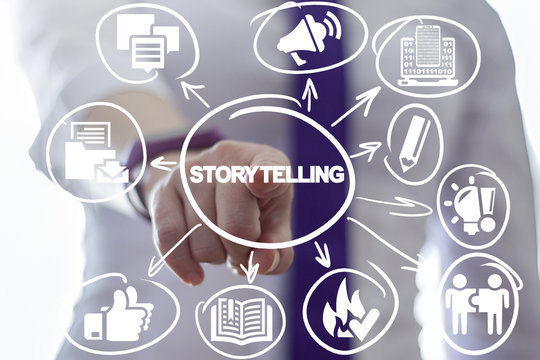 Storytelling. Story Telling Business concept.