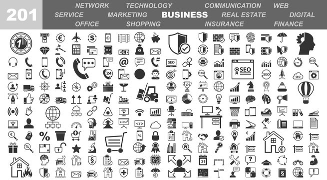 Business & Office Icons - 201 Iconset