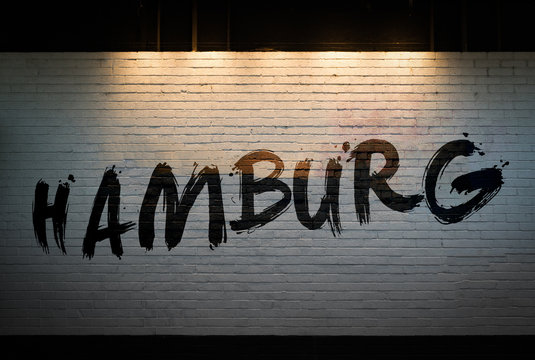Hamburg concept graffiti on wall