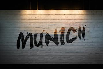 Munich concept graffiti on wall