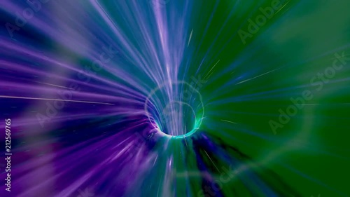 """High Speed Flight Through a Green Wormhole in Outer Space - science fiction video"" Stock footage and royalty-free videos on Fotolia.com - Vid 212569765"