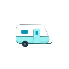 Camper trailer icon