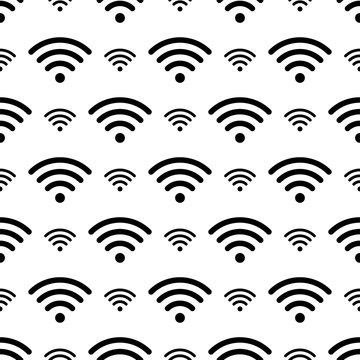 Wifi Icon Seamless Pattern