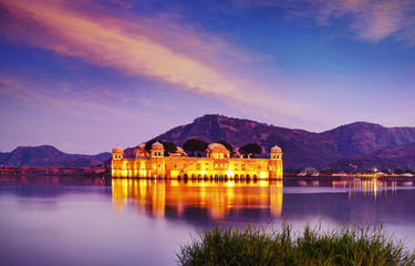 Water Palace Jal Mahal, Man Sager Lake, Jaipur, Rajasthan, India, Asia