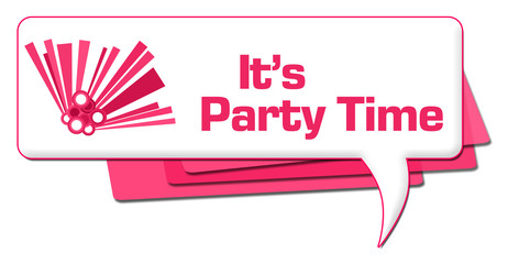 Its Party Time Pink Graphic Comment Symbol