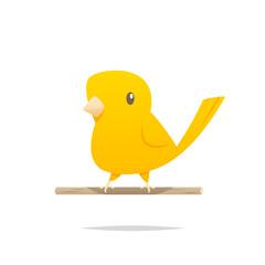 Cartoon canary bird vector isolated