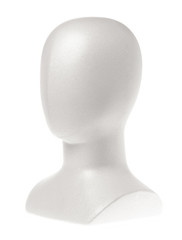 mannequin head isolated on white background