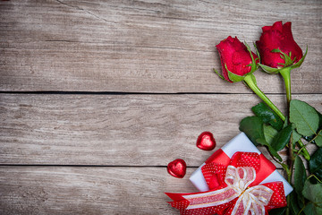 Valentines day background with rose