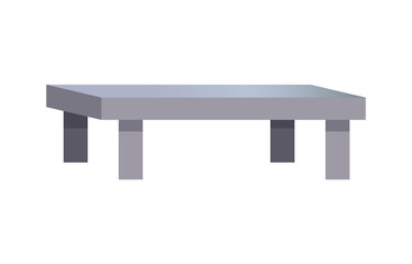 Rectangular Coffee Table, Vector Illustration