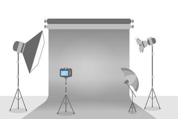 Empty photostudio illustration