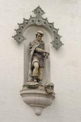 Augsburg Wandfigur St. Michael Turamichele