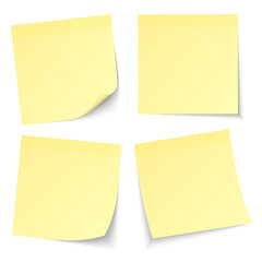 4 Yellow Stick Notes