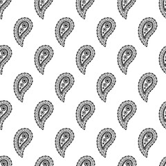 Paisley pattern. Decorative ornament design.