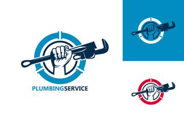 Plumbing Service Logo Template Design Vector, Emblem, Design Concept, Creative Symbol, Icon