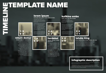 Vector Infographic timeline template with photos
