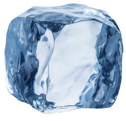Ice cube. Macro shot. Clipping path.