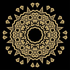 Mandala on a background. Beautiful oriental, asian motives. Flower GEOMETRIC vector.