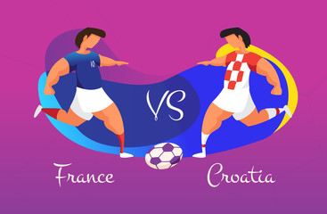 A duel of football teams. A clash between Croatia and France.