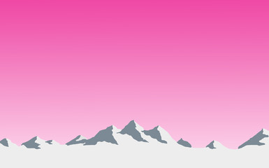 Door stickers Pink mountain