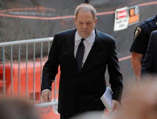 Film producer Harvey Weinstein arrives at Manhattan Criminal Court