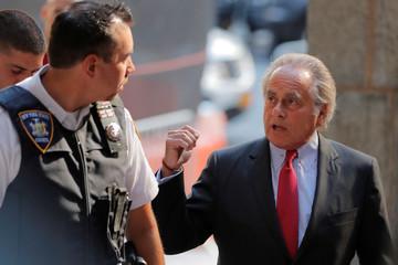 Film producer Harvey Weinstein's lawyer Benjamin Brafman arrives at Manhattan Criminal Court