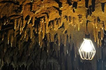 Beautiful Stalactite Cave in Okinawa Island, Japan
